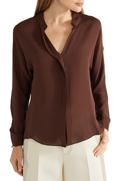 17bf1afbe15c8 Vince. Silk-georgette blouse