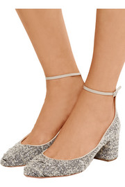 Alix bouclé-tweed pumps