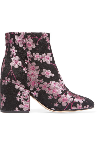 Sam Edelman - Taye Floral-brocade Ankle Boots - Pink