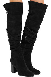 Sable suede knee boots