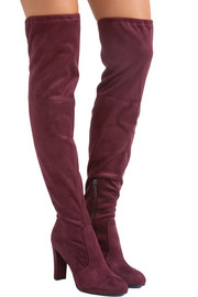 Kent stretch-suede over-the-knee boots