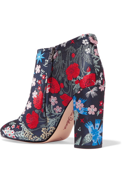 e96bb87600ae Sam Edelman. Cambell floral-brocade ankle boots.  80. Zoom In