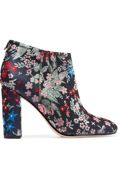f520b9cdba89 Sam Edelman. Cambell floral-brocade ankle boots