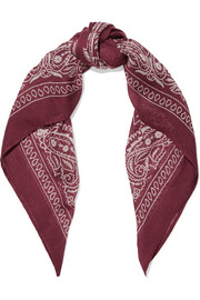 Chan Luu Paisley-print voile scarf