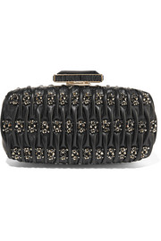 Oscar de la Renta Goa embellished matelassé leather clutch
