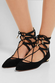 Belgravia suede point-toe flats