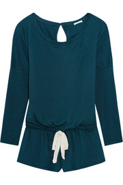Eberjey Heather jersey playsuit