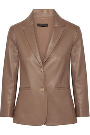 The Row Nolbon bonded stretch-leather blazer
