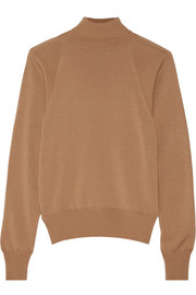 The Row Teresa merino wool and cashmere-blend turtleneck sweater