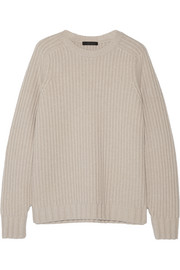 Keyes ribbed wool and cashmere-blend sweater