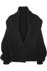 Loretta ribbed wool and cashmere-blend cardigan