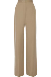 Mailan wool-gabardine wide-leg pants