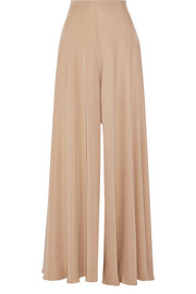 The Row Anissa washed-silk wide-leg pants