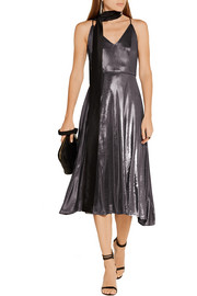 Halston Heritage Lamé midi dress