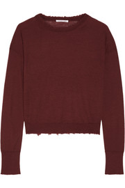 Frayed cashmere sweater