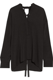 Helmut Lang Open-back stretch-silk blouse