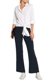 Helmut Lang Cropped stretch-crepe flared pants