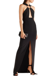 Kali cutout crepe maxi dress