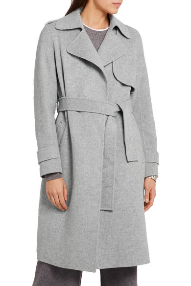 Theory | Oaklane brushed wool and cashmere-blend coat | NET-A ...