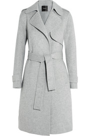 Oaklane brushed wool and cashmere-blend coat