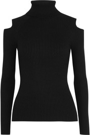 Jemliss cutout ribbed wool-blend sweater