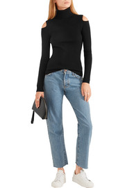 Theory Jemliss cutout ribbed wool-blend sweater