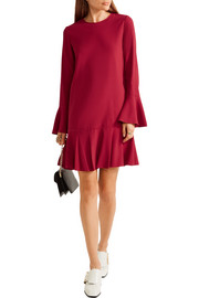 Theory Marah pleated crepe mini dress