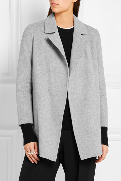 Theory Clairene Brushed Wool And Cashmere Blend Jacket