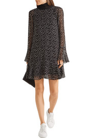 Theory Marah printed silk-chiffon mini dress