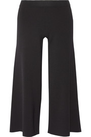 Henriet cropped stretch-knit wide-leg pants