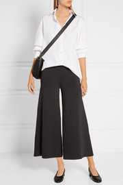 Theory Henriet cropped stretch-knit wide-leg pants