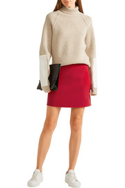 Theory Irenah Saxton stretch wool-crepe mini skirt