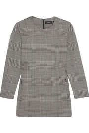 Laurent Prince of Wales check stretch-wool top