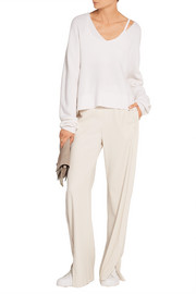 Theory Jolinta stretch-crepe wide-leg pants