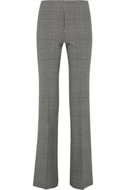 Demitria Prince of Wales check stretch-wool flared pants