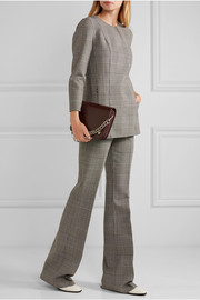Theory Demitria Prince of Wales check stretch-wool flared pants