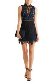 Clementine guipure lace mini dress
