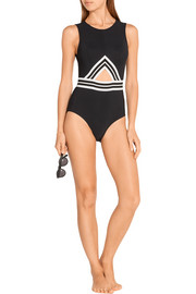 Karla Colletto Parallel cutout swimsuit