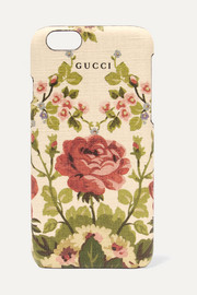 Gucci for NET-A-PORTER Adonis floral-print textured iPhone 6 case