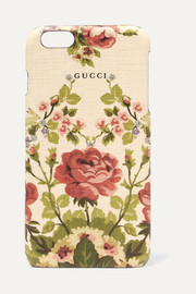 Gucci for NET-A-PORTER Adonis floral-print textured iPhone 6 Plus case