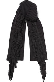 Kelsey fringed merino wool and alpaca-blend scarf