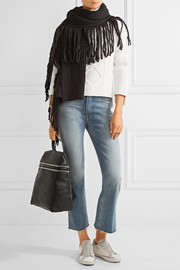 Rag & bone Kelsey fringed merino wool and alpaca-blend scarf