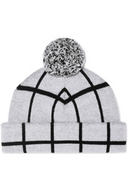 Mallori checked merino wool beanie