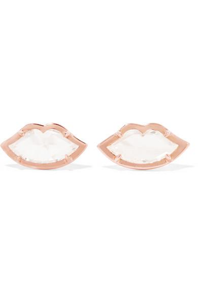 Jemma Wynne - 18-karat Rose Gold Diamond Earrings