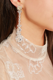 Simone Rocha Gold-plated crystal earrings