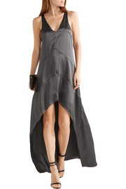 Narciso Rodriguez Asymmetric silk-satin dress