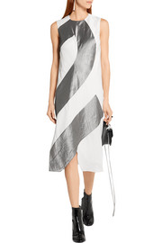 Narciso Rodriguez Silk-paneled twill dress