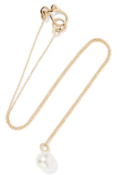 Sophie Bille Brahe - Perle Simple 14-karat Gold Pearl Necklace