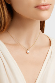 Perle Simple 14-karat gold pearl necklace