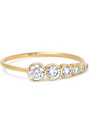 Plein de Lune 14-karat gold diamond ring